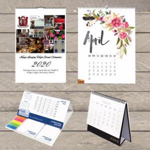 Desk, Wall Calendar
